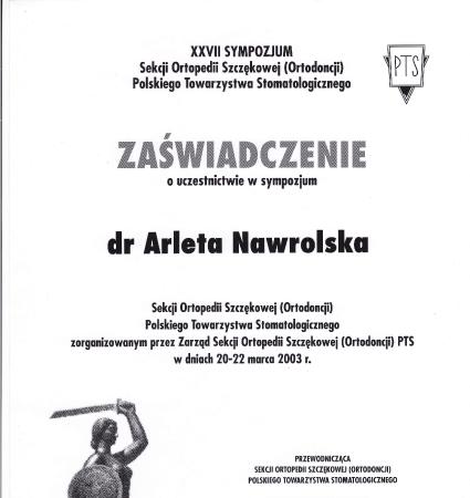 Arleta Nawrolska - certyfikat (1)