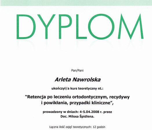 Arleta Nawrolska - certyfikat (4)