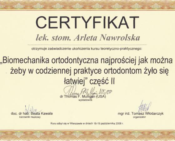 Arleta Nawrolska - certyfikat (5)